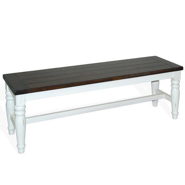 Patenaude Wood Bench by August Grove
