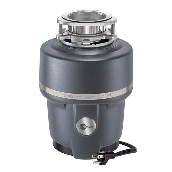 Evolution Compact 3/4 HP Continuous Feed Garbage Disposal (with Optional Power Cord) by InSinkErator