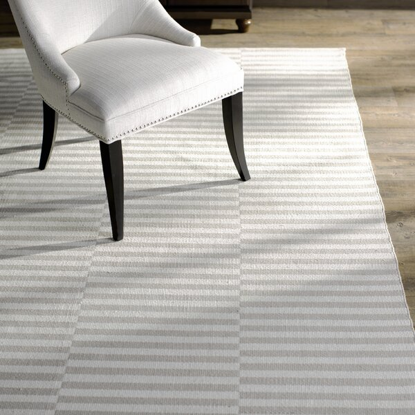 Orwell Hand-Woven Cotton Ivory/Light Gray Area Rug by Breakwater Bay