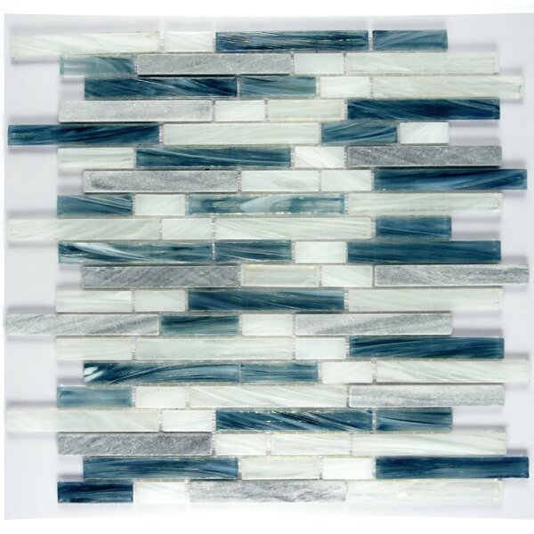 Ice Honey Berries Random Sized Glass Mosaic Tile in Imperial Blue by Abolos