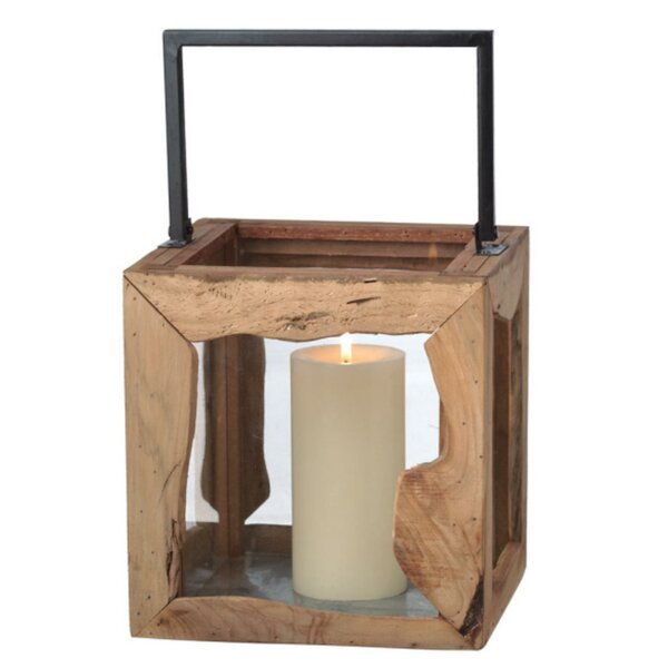Organic Modern Style Wooden Lantern by Union Rustic
