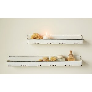 Colman Metal 2 Piece Floating Shelf Set