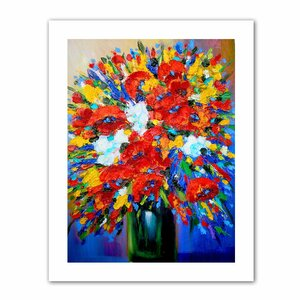 Happy Foral Painting Print on Rolled Canvas by Andover Mills