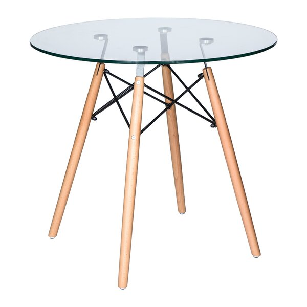 Kamron Bistro Glass Top Dining Table by George Oliver