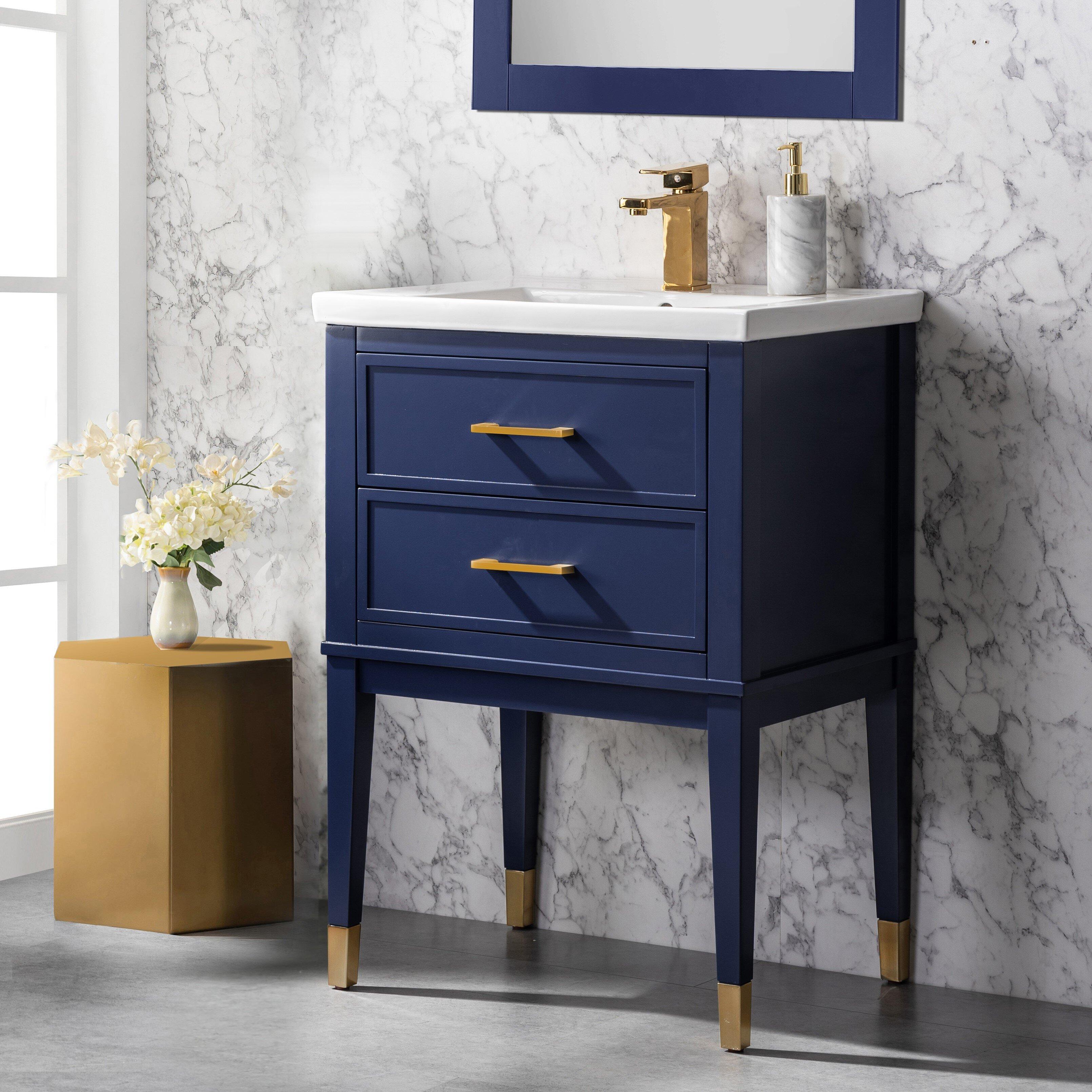 Everly Quinn Deon 24 Single Bathroom Vanity Set Reviews Wayfair