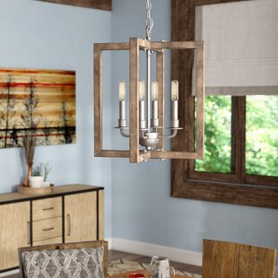 Price comparison Daugherty 4-Light Square/Rectangle Chandelier By Union Rustic