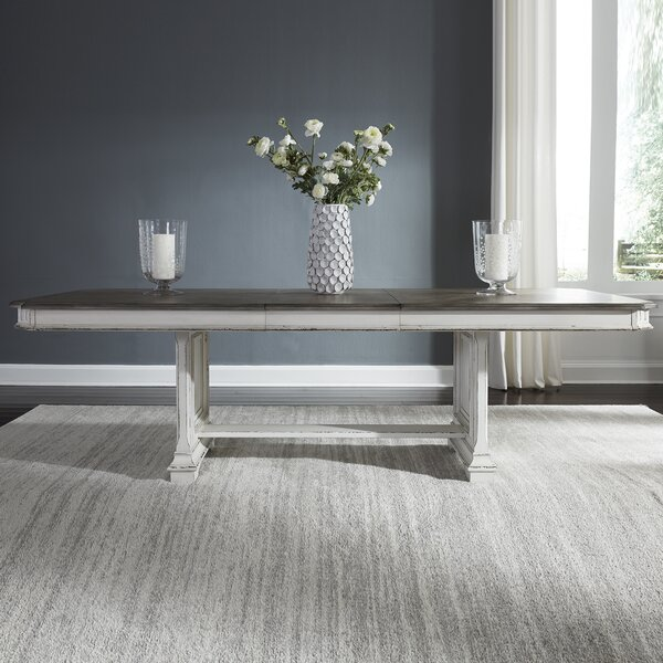 Fresh Jersey Trestle Extendable Dining Table By Ophelia & Co. Best