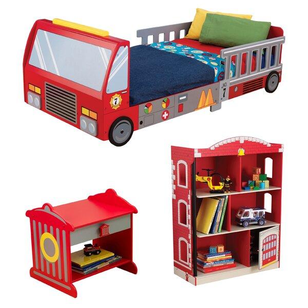 Kidkraft firefighter toddler car configurable bedroom set - Wayfair childrens bedroom furniture ...