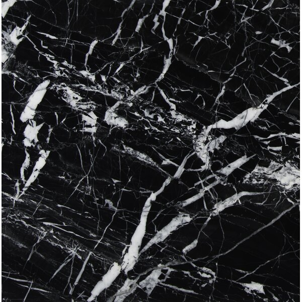12 x 12 Marble Field Tile in Black by MSI