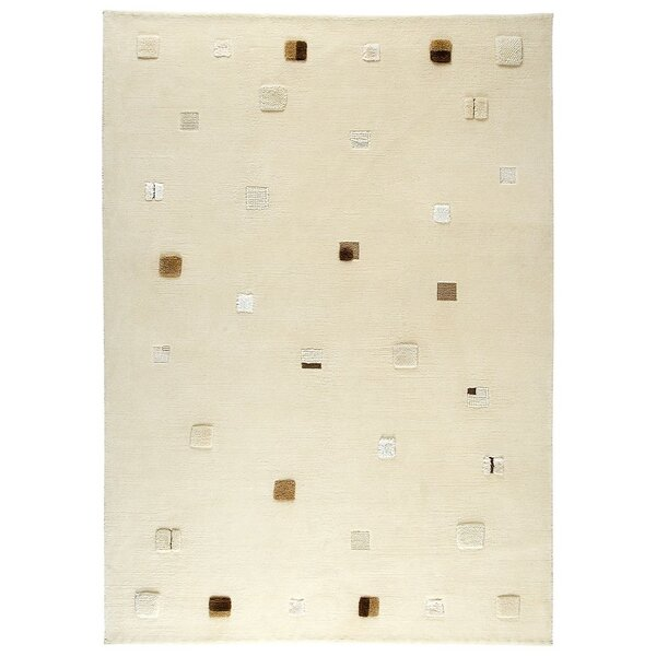 Colombia Hand-Knotted White Area Rug by M.A. Trading