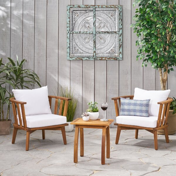 Sprayberry 3 Piece Seating Group with Cushions by Highland Dunes