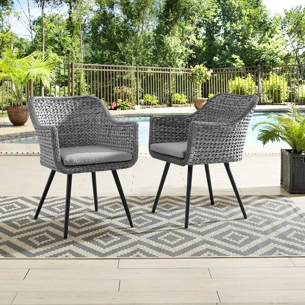 Margarito Patio Dining Chair with Cushion (Set of 2) by Brayden Studio