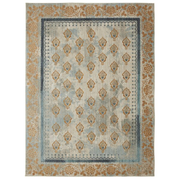 Lakeside Cottage Gold/Blue Area Rug by Patina Vie