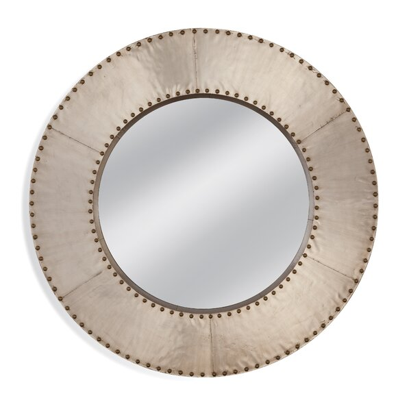 Round Metal Wall Mirror by 17 Stories