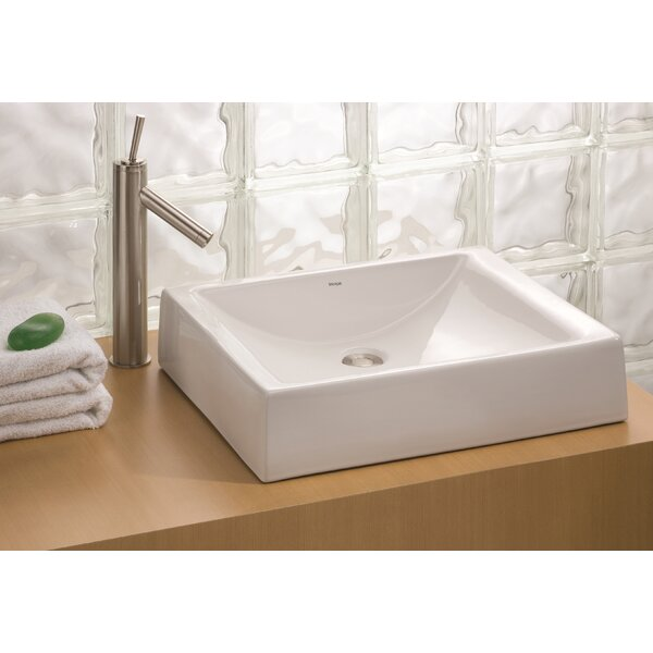 Pacific Vitreous China Rectangular Vessel Bathroom Sink by Cheviot Products