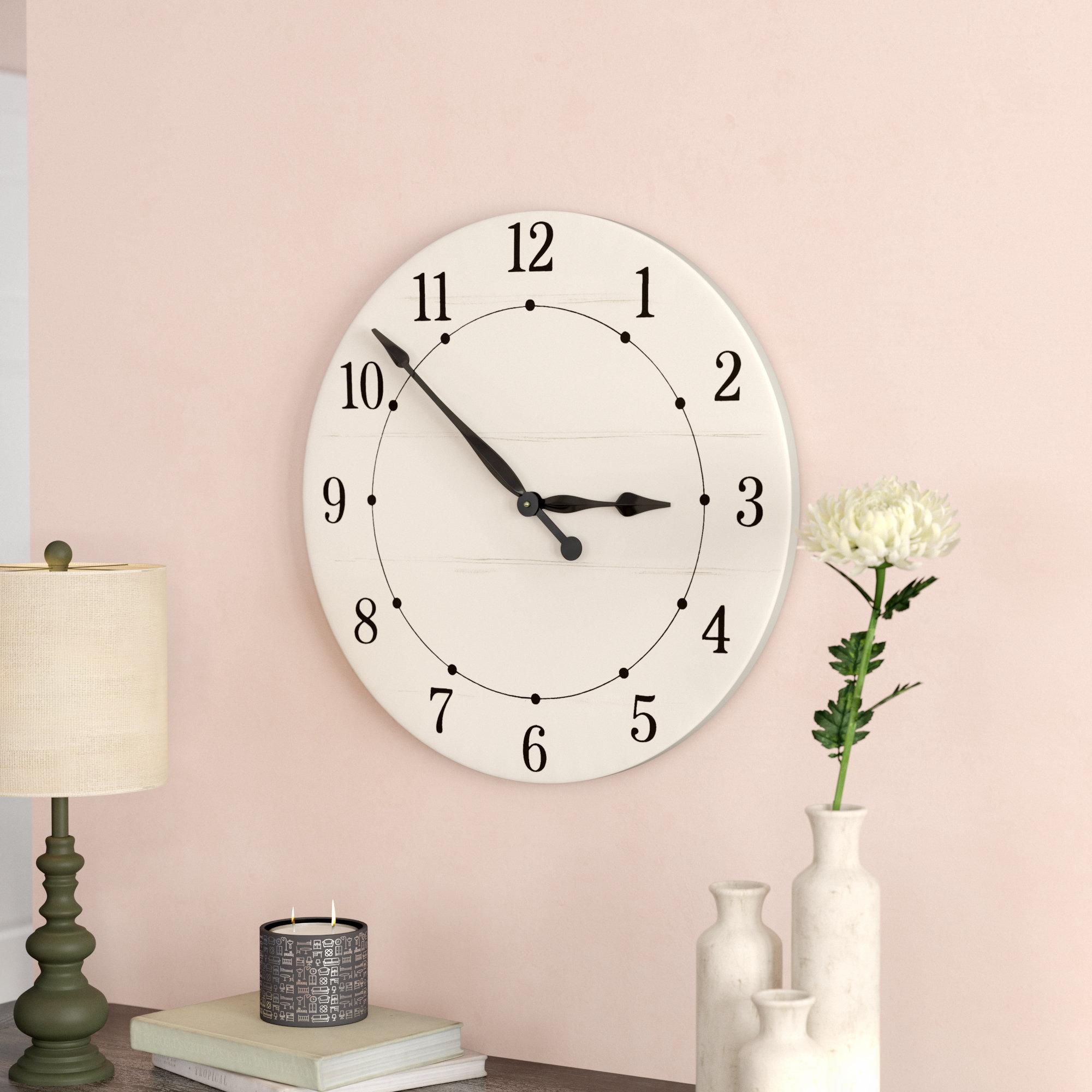 Oversized Mayberry Farmhouse Wall Clock