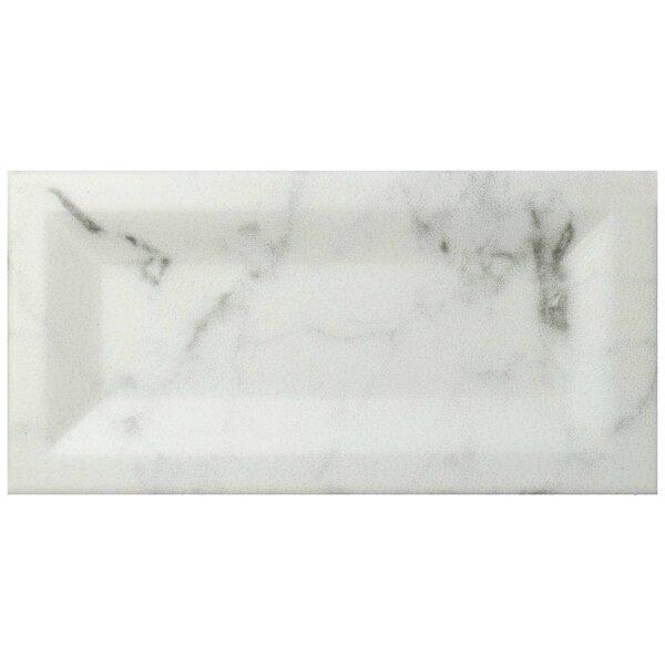 Karra Carrara 3 x 6 Ceramic Subway Tile in Matte Inmetro White/Gray by EliteTile