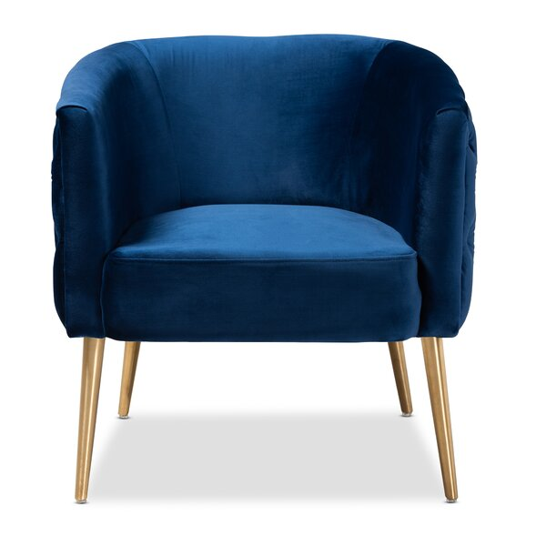 Whiteside Glam And Luxe Velvet Fabric Upholstered Armchair By Mercer41