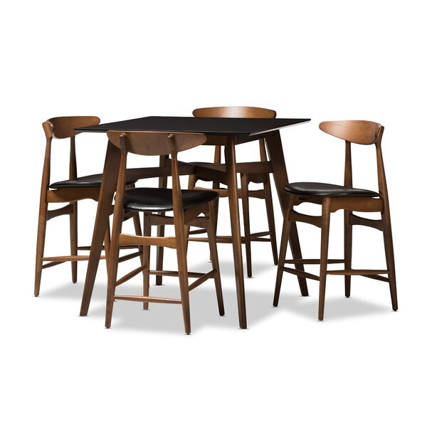 Diez Mid-Century 5 Piece Pub Table Set by Corrigan Studio