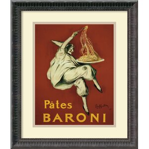 'Pates Baroni (Ca. 1921)' by Leonetto Cappiello Framed Vintage Advertisement by Amanti Art