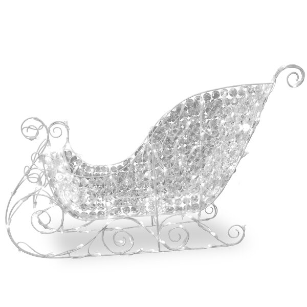 Crystal Sleigh Christmas Lawn Art/Figurine by National Tree Co.