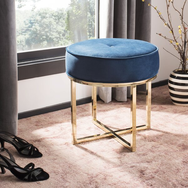 Kittle Round Ottoman by Everly Quinn