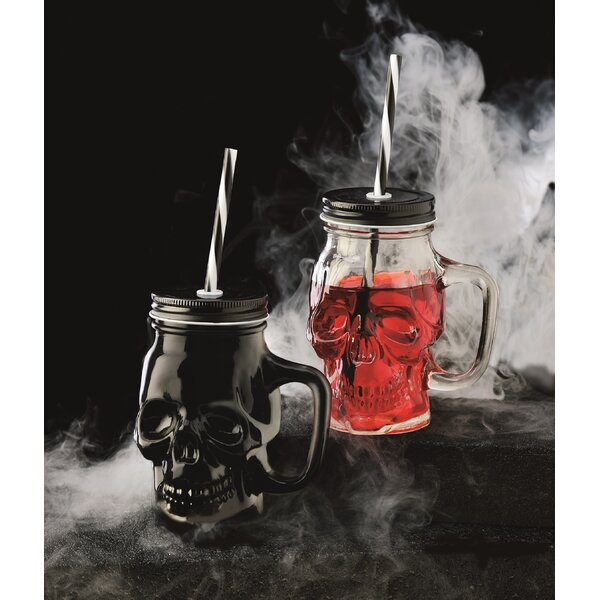 Skull 16 oz. Glass Mason Jar (Set of 2) by The Holiday Aisle