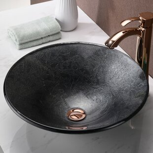 Arc Glass Circular Vessel Bathroom Sink ANZZI