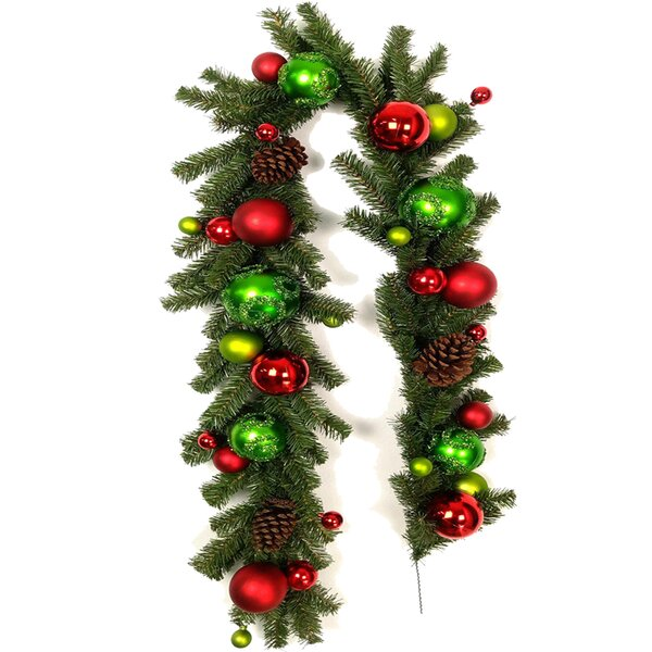 Christmas Ornaments Ball and Pine Cone Garland by The Holiday Aisle