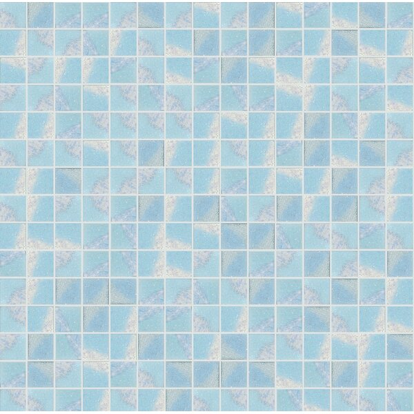 Glare 13 x 13 Glass Mosaic Tile in Blue/White by Mosaic Loft