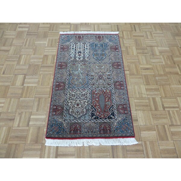 One-of-a-Kind Rakowski Hand-Knotted Wool Red/Gray Area Rug by Astoria Grand
