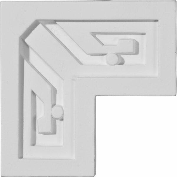 Eris 3 3/8H x 3 3/8W x 7/8D Key Panel Moulding Corner by Ekena Millwork