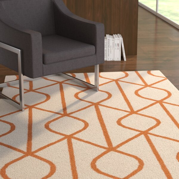 Murrill Hand-Woven Ivory Area Rug by Ebern Designs
