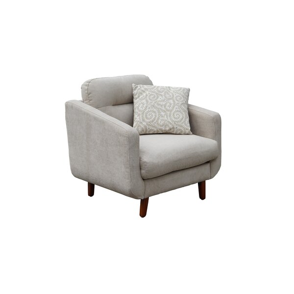 Hecht Linen Urban Track Armchair By George Oliver