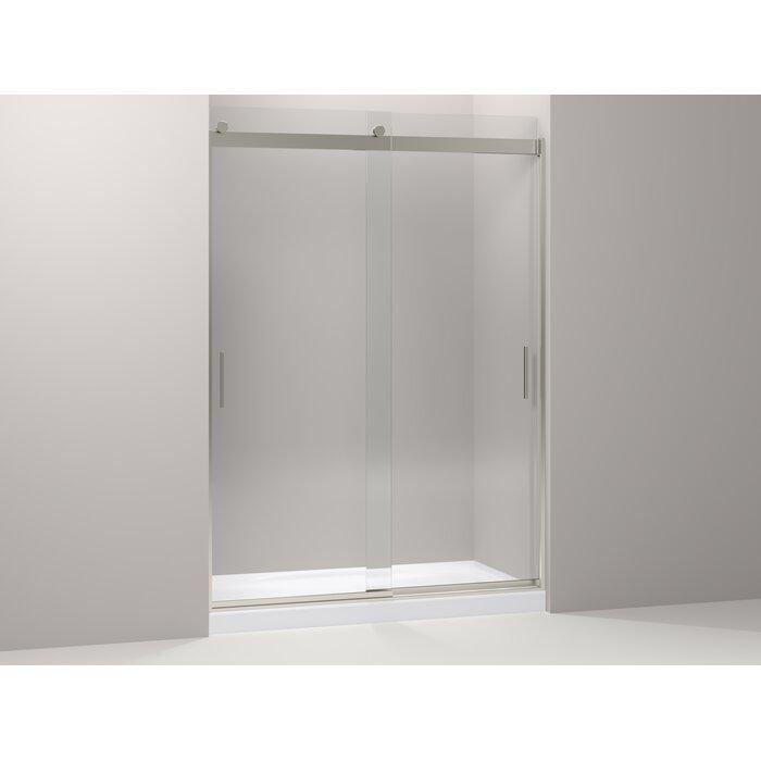 Kohler Levity Sliding Shower Door And Blade Handles Brushed Nickel