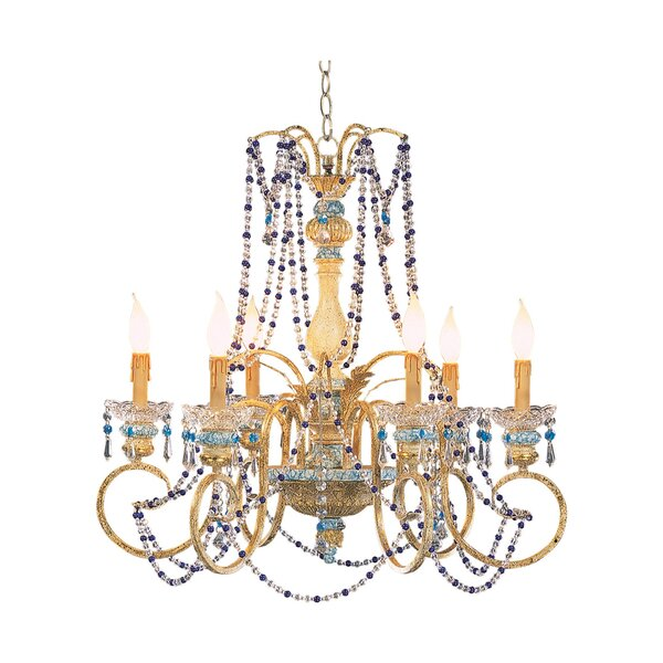 Fricke 6 - Light Candle Style Classic / Traditional Chandelier by Astoria Grand Astoria Grand