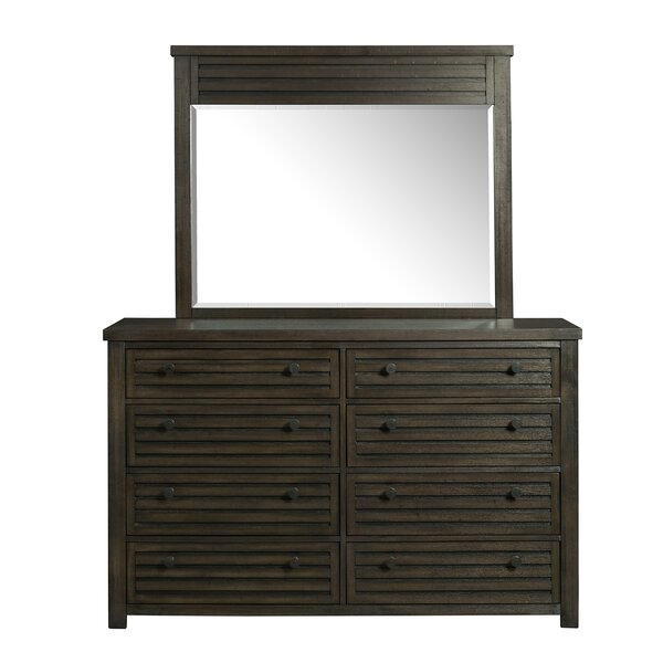 Panola 8 Drawer Double Dresser with Mirror by Gracie Oaks