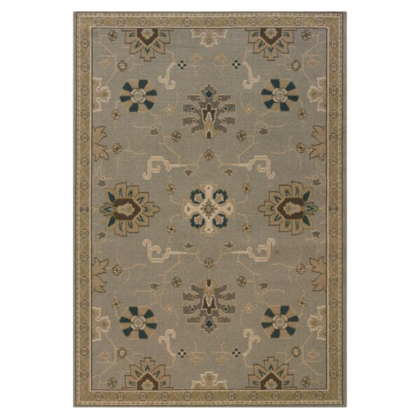 Perrin Grey/Blue Area Rug by Alcott Hill