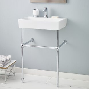 Inexpensive Nuo Ceramic 24 Console Bathroom Sink with Overflow ByCheviot Products