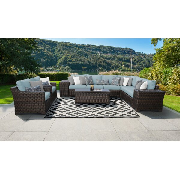 kathy ireland Homes & Gardens River Brook 11 Piece Sectional Seating Group by kathy ireland Homes & Gardens by TK Classics