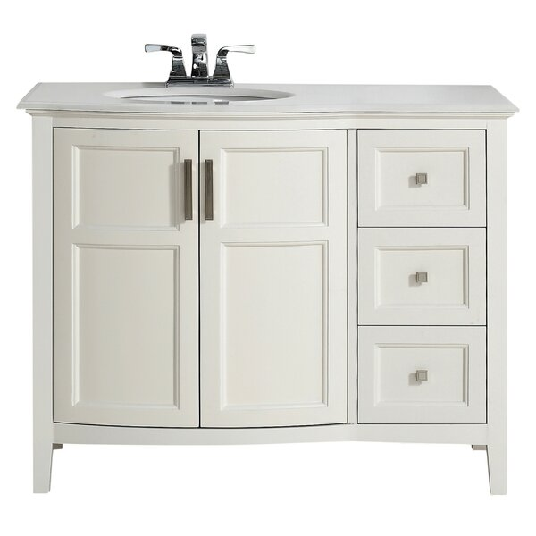 Winston 43 Single Rounded Front Bath Vanity Set by Simpli Home