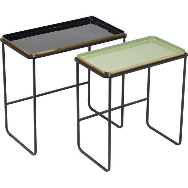 Rosita 2 Piece Nesting Tables by Bloomsbury Market