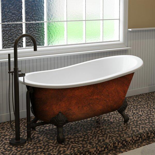 Cast Iron Clawfoot 61 x 30 Freestanding Soaking Bathtub by Cambridge Plumbing