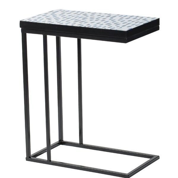 Murraysville Speckled Side Table - Black, Indigo by Ebern Designs Ebern Designs