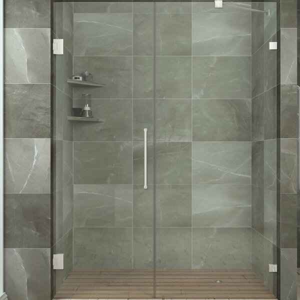 Consort 58.5 x 72 Hinged Frameless Shower Door by ANZZI