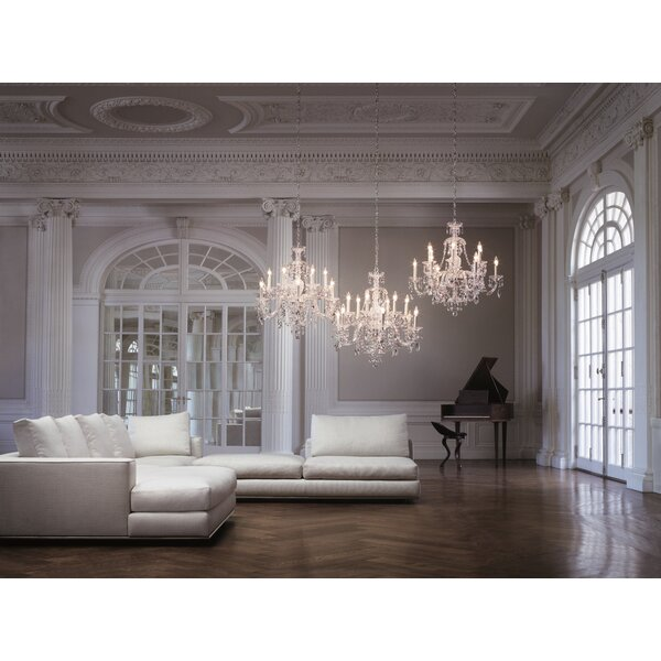 Sterling 12-Light Candle Style Chandelier by Schonbek