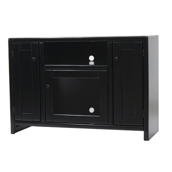 Review Jessi Solid Wood TV Stand For TVs Up To 50