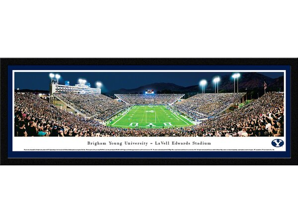 NCAA Brigham Young University - End Zone by Christopher Gjevre Framed Photographic Print by Blakeway Worldwide Panoramas, Inc