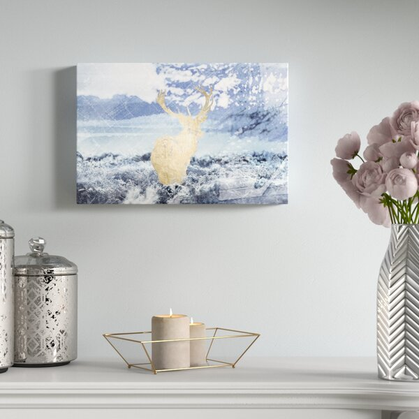 Wild Golden Periwinkle Graphic Art on Canvas by Mercer41