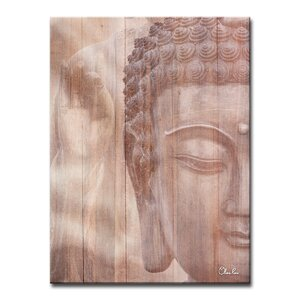 'Buddha' Graphic Art Print on Canvas by Bloomsbury Market